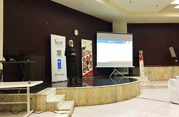 محاضرة تعريفيةفي مركز الشباب مع IECD